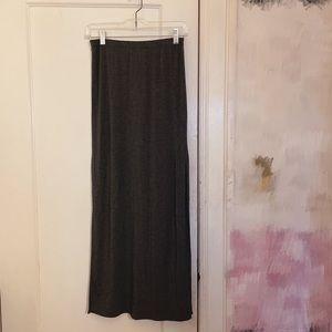 ARITZIA Babaton Grey High Slit Maxi Skirt Size XS